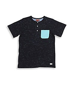 7 For All Mankind - Boy's Pocket Henley Tee