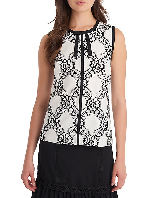 Sleeveless Tie Front Blouse