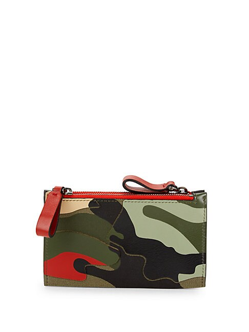 Camouflage Leather Coin Purse