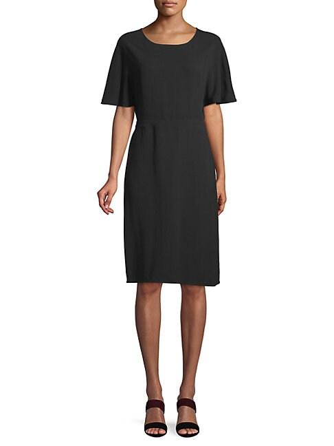 Dolman Sleeve Viscose Dress