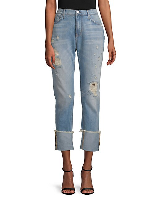 EI8HT DREAMS | Distressed Slim Boyfriend Jeans | Goxip