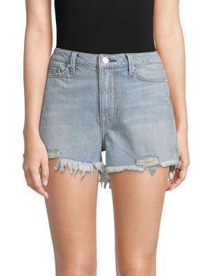 EI8HT DREAMS High-Rise Denim Shorts in Bleach Blue