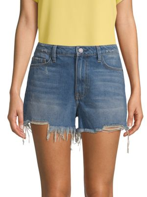 EI8HT DREAMS Bite High-Rise Denim Shorts in Tinted Indigo