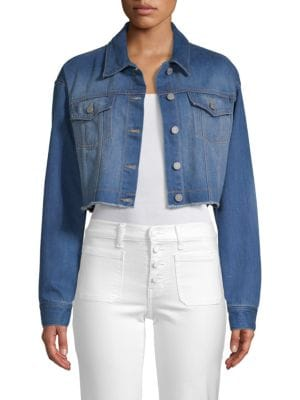 EI8HT DREAMS Cropped Denim Jacket in Blue