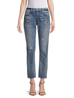 Ei8ht Dreams Embroidered Boyfriend Jeans
