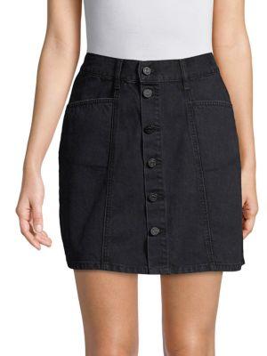 EI8HT DREAMS Short Denim Skirt in Dark Wash