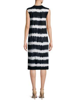C&C CALIFORNIA Tie Dyed Knee-Length Dress in Black