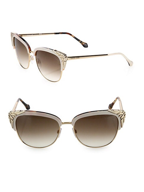 56MM Gradient Cat Eye Gradient Sunglasses