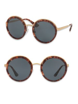 Incotex 54MM Round Metal-Trim Sunglasses