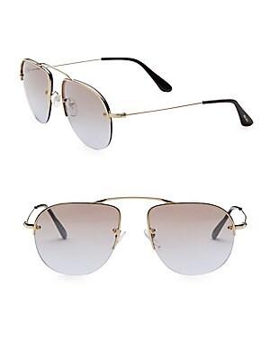 6b8c33a7ae Prada - Teddy 55MM Mirrored Aviator Sunglasses - saksoff5th.com