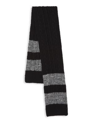 BICKLEY + MITCHELL Classic Textured Scarf in Black