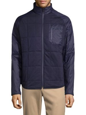 Lacoste Quilted Zip Up Jacket