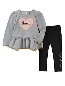 Juicy Couture - Little Girl's Two-Piece Flare Tunic and Leggings Set