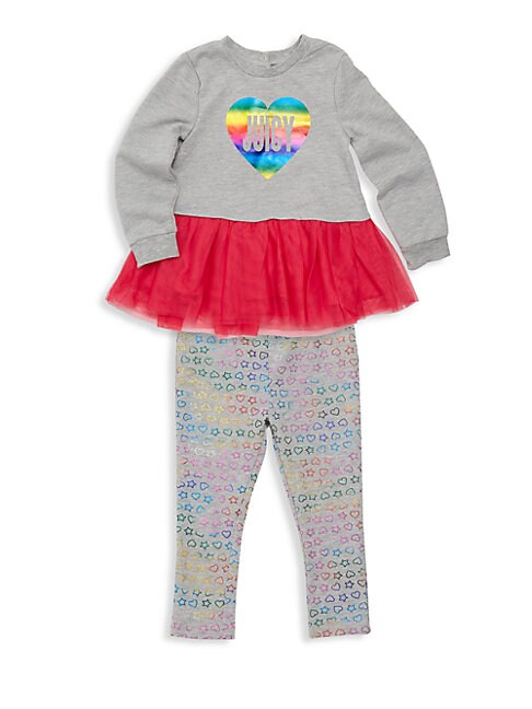 Baby Girl's Two-Piece Tutu Peplum Sweater & Leggings Set