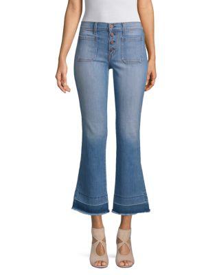 EI8HT DREAMS Flared Stretch Jeans in Blue