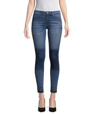 EI8HT DREAMS Patch Mid-Rise Jeans in Dark Wash
