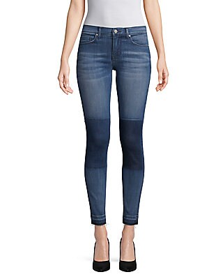 Patch Mid-Rise Jeans