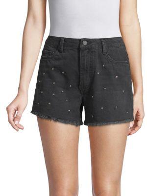 EI8HT DREAMS Studded Denim Shorts in Black