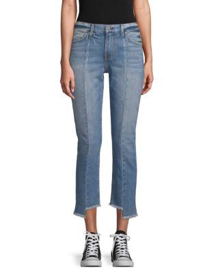 EI8HT DREAMS Step-Hem Cropped Jeans in Light Wash