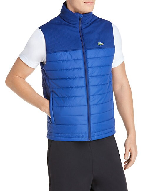 Quilted Colorblock Vest