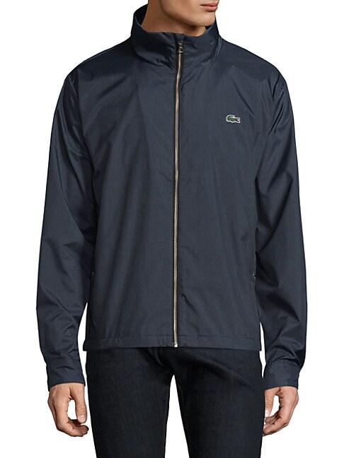 Zip-Front Taffeta Jacket