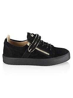 Giuseppe Zanotti - Low Single Bar Suede Sneakers