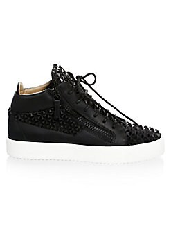 Giuseppe Zanotti - Gradient Leather Mid-Top Sneakers