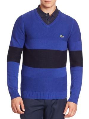 Lacoste Striped Colorblock Sweater