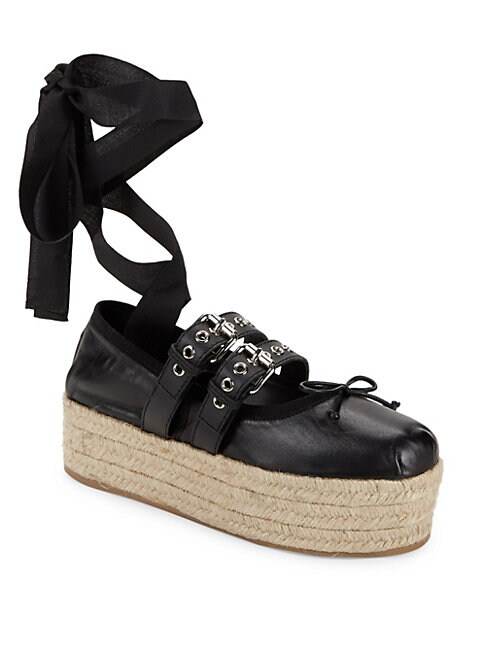 Bow Ankle-Strap Espadrilles