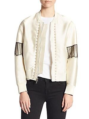 Embellished Bomber Jacket