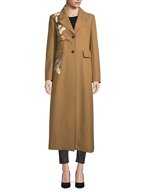 VALENTINO FLORAL WOOL COAT