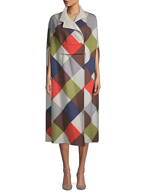 Multicolored Wool Coat
