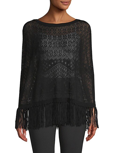 Fringed Lace Sweater