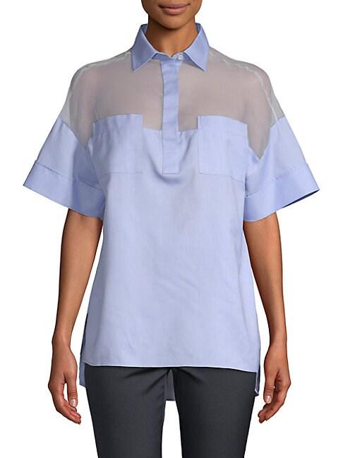 Sheer Insert Shirt