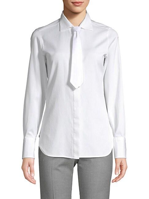 en con cordones algodón con Camisa Bianco botones de Valentino zzF07