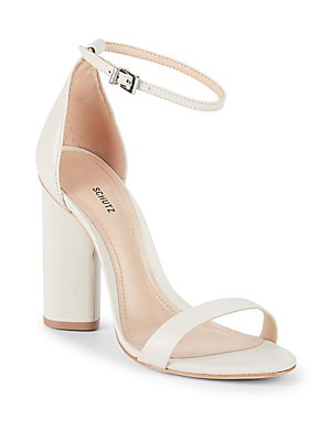 JEANNINE LEATHER ANKLE-STRAP SANDALS