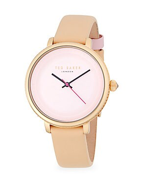 1f14613ce3a Ted Baker London - Isla Stainless Steel Quartz Analog Leather-Strap Watch -  saksoff5th.com