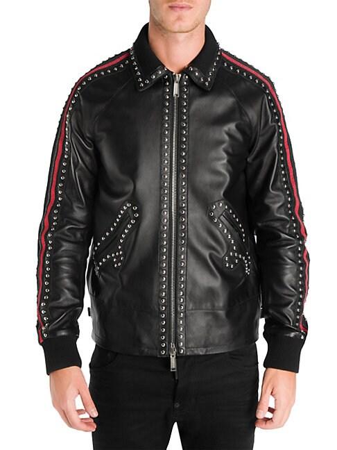 Sports Leather Jacket