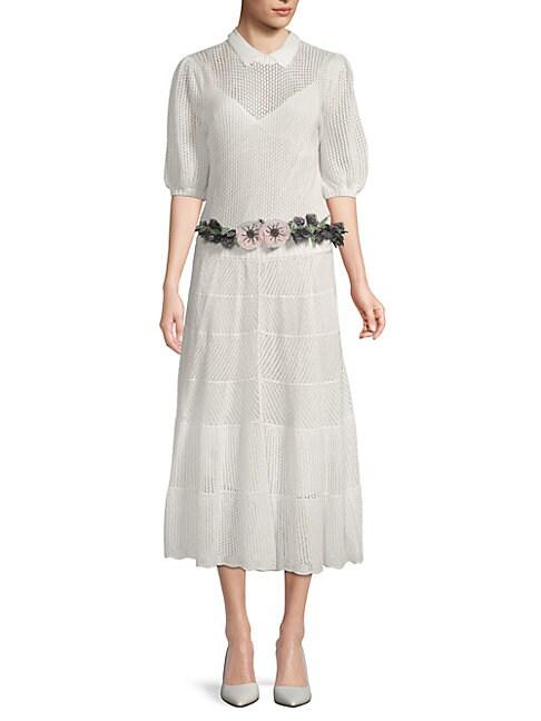 Crochet Midi Cotton Dress