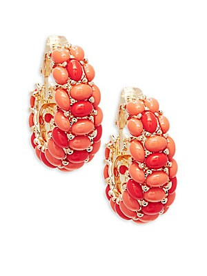CLUSTERED CLIP-ON EARRINGS