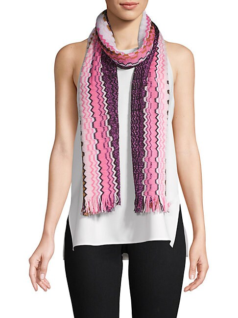 Multicolored Frayed Scarf