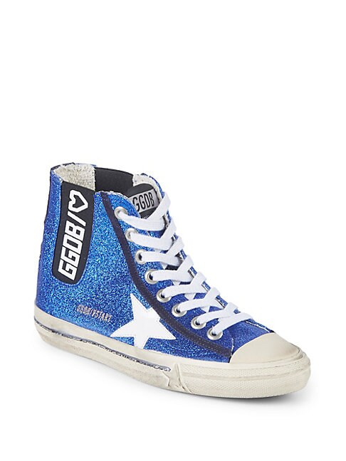 High-Top Leather Logo Sneakers