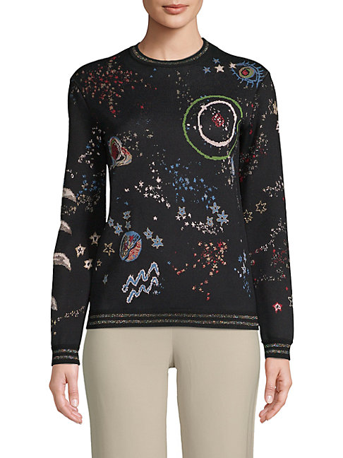 Astro-Printed Graphic Sweater