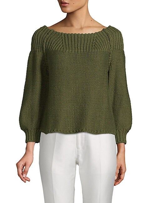 Boatneck Silk Sweater