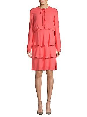 Long-Sleeve Tiered Dress
