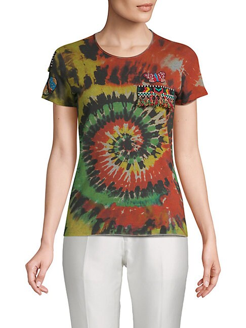 Psychedelic-Print Cotton Tee
