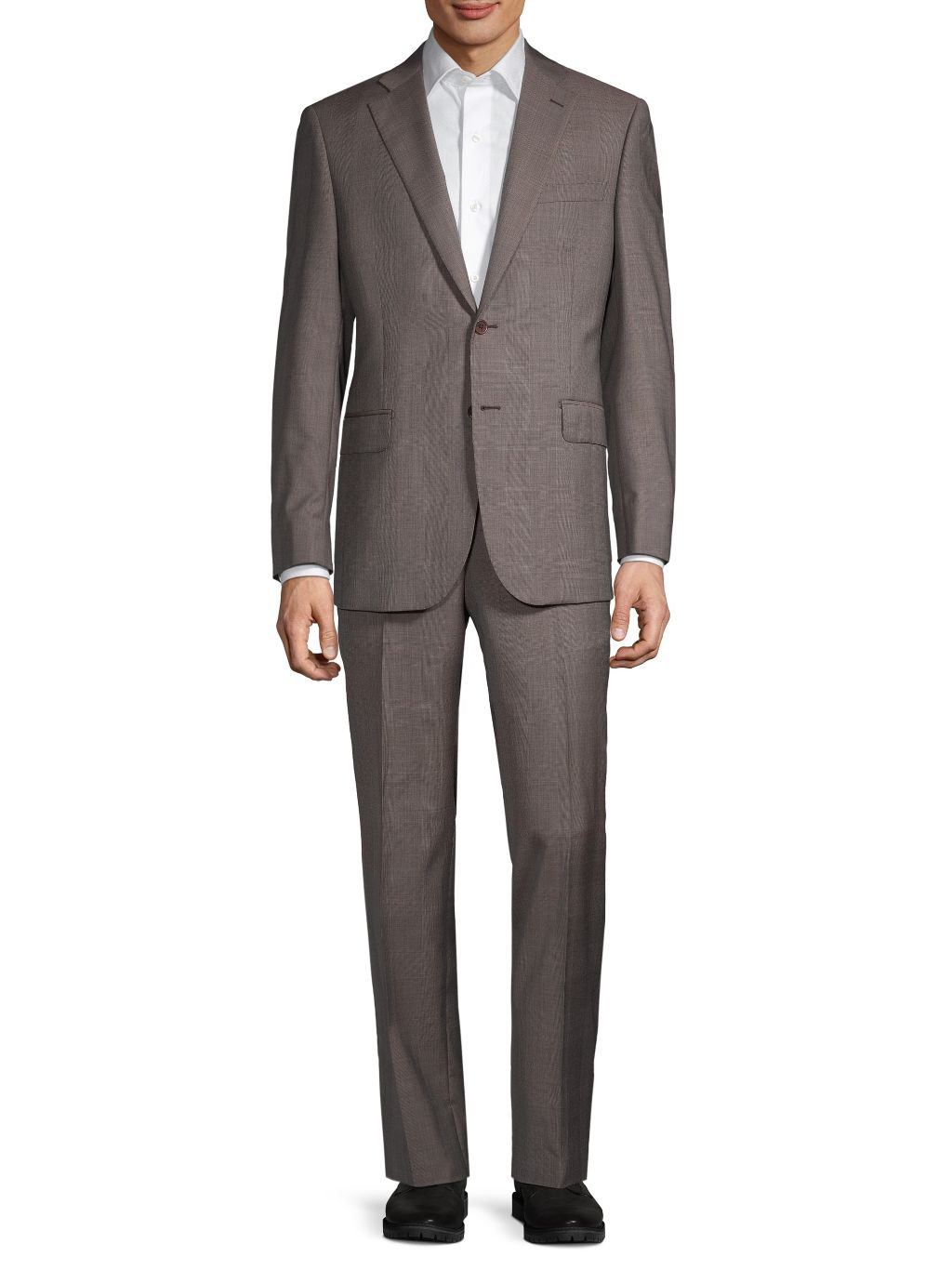 Saks Fifth Avenue Made in Italy Classic-Fit Mini Check Wool Suit