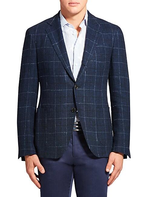 Plaid Linen & Silk Jacket