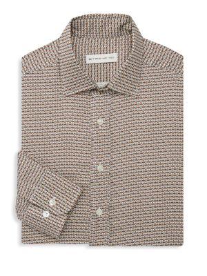 ETRO Medallion Cotton Casual Button-Down Shirt