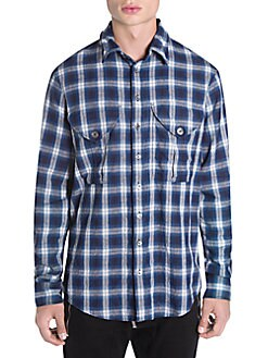 Dsquared2 - Plaid Military-Fit Shirt